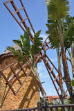 Moinho de vento tradicional em Fuerteventura Ilhas Canárias spain Imagem de Stock