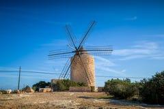Moinho de vento velho Foto de Stock