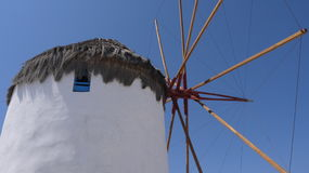 Moinho de vento velho em Greece Fotos de Stock Royalty Free