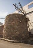 Moinho de vento velho tradicional em Ilhas Canárias de Gran, Espanha imagem de stock royalty free