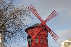 Moinho do vermelho do moulin Fotografia de Stock