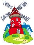 Moinho dos desenhos animados Imagem de Stock Royalty Free