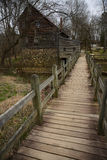 Moinho e celeiro rústicos em North Carolina Foto de Stock Royalty Free