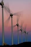 Moinho e energia de vento Foto de Stock