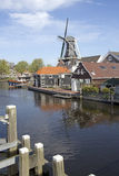 Moinho em Haarlem, Holland Foto de Stock