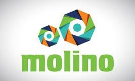 Moinho - logotipo Fotos de Stock Royalty Free