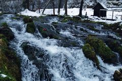 moinho na água Foto de Stock