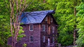 Moinho velho na vila de Millbrook, nacional Recre de Gap de água de Delaware Imagens de Stock Royalty Free