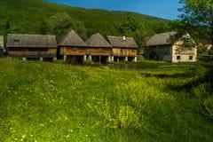 Moinhos de madeira, Croácia de Gacka Fotos de Stock