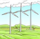 Moinhos de vento Foto de Stock Royalty Free