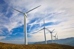 Moinhos de vento Fotografia de Stock