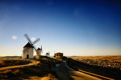 Moinhos de vento Consuegra de Don Quixote, Toledo Spain imagem de stock royalty free