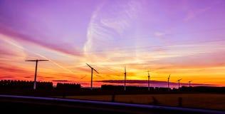 Moinhos de vento da eletricidade Imagens de Stock
