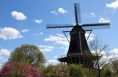 Moinhos de vento da Holanda fotografia de stock