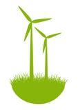 Moinhos de vento de Eco Imagens de Stock