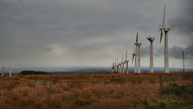 Moinhos de vento de Havaí Fotos de Stock Royalty Free