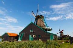 Moinhos de vento de Holland Imagens de Stock