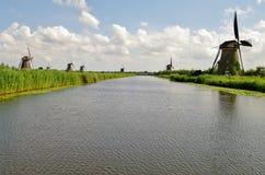 Moinhos de vento de Kinderdijk Fotografia de Stock Royalty Free