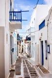Moinhos de vento de Mykonos - Greece Foto de Stock Royalty Free