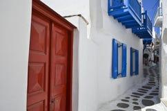 Moinhos de vento de Mykonos - Greece Imagens de Stock