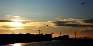 Moinhos de vento de Weymouth Imagem de Stock Royalty Free