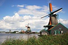 Moinhos de vento de Zaanse Schans, Países Baixos foto de stock