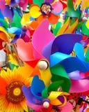 Moinhos de vento do brinquedo fotos de stock