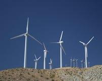 Moinhos de vento do deserto Fotografia de Stock Royalty Free