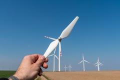 Moinhos de vento e hélice Fotografia de Stock Royalty Free