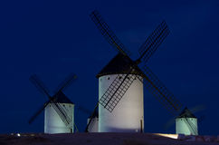 Moinhos de vento em Campo de Criptana Foto de Stock