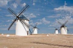 Moinhos de vento em Campo De Criptana Fotografia de Stock Royalty Free