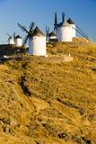Moinhos de vento em Consuegra Imagem de Stock Royalty Free