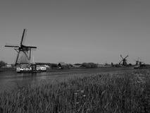 Moinhos de vento em Holland Fotografia de Stock