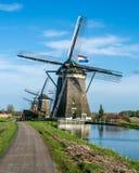 Moinhos de vento em Leidschendam Imagens de Stock