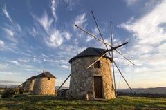 Moinhos de vento em Portugal Foto de Stock
