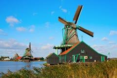 Moinhos de vento em Zaanse Schans Foto de Stock