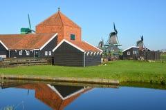 Moinhos de vento históricos Fotos de Stock