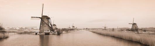 Moinhos de vento holandeses Fotografia de Stock Royalty Free