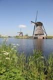 Moinhos de vento holandeses Foto de Stock