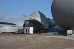Moinhos de vento holandeses do eco, Noordoostpolder, Países Baixos Foto de Stock Royalty Free