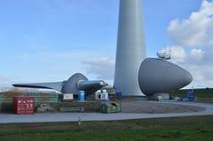 Moinhos de vento holandeses do eco, Noordoostpolder, Países Baixos Foto de Stock