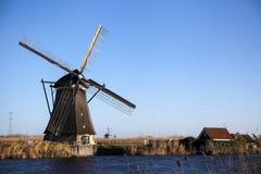 Moinhos de vento holandeses, Holanda, extensões rurais Moinhos de vento, o símbolo da Holanda Fotos de Stock Royalty Free