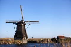 Moinhos de vento holandeses, Holanda, extensões rurais Moinhos de vento, o símbolo da Holanda Foto de Stock