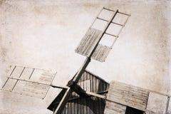 Moinhos de vento, imagem no estilo retro Fotografia de Stock