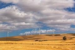 Moinhos de vento no campo de África do Sul imagens de stock