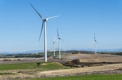 Moinhos de vento para a produção da energia elétrica, poder do eco, turbina eólica Imagens de Stock