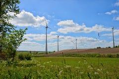 Moinhos de vento para a produção de Electric Power Imagens de Stock