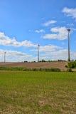 Moinhos de vento para a produção de Electric Power Foto de Stock Royalty Free