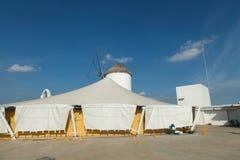 moinhos de vento típicos da região Foto de Stock Royalty Free