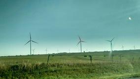 Moinhos de vento de Thw foto de stock